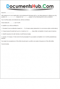 Appointment letter format for job documentshub thecheapjerseys Image collections