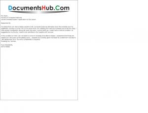 Sick leave application sample for students documentshub spiritdancerdesigns Images