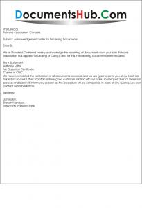 Acknowledgement letter for receiving documents documentshub spiritdancerdesigns Choice Image
