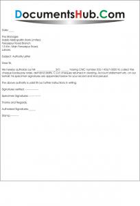 Authority letter for bank altavistaventures Gallery