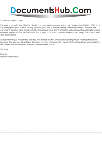 Experience letter for receptionist yelopaper Gallery