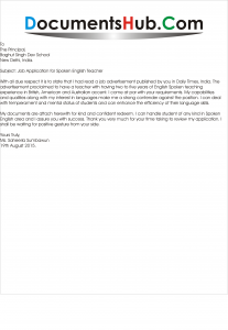 Job application for spoken english teacher documentshub altavistaventures Choice Image