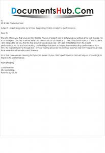 Undertaking letter by school sample documentshub expocarfo