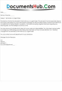 reason for termination on job application