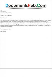 Job Application For Montessori Teacher