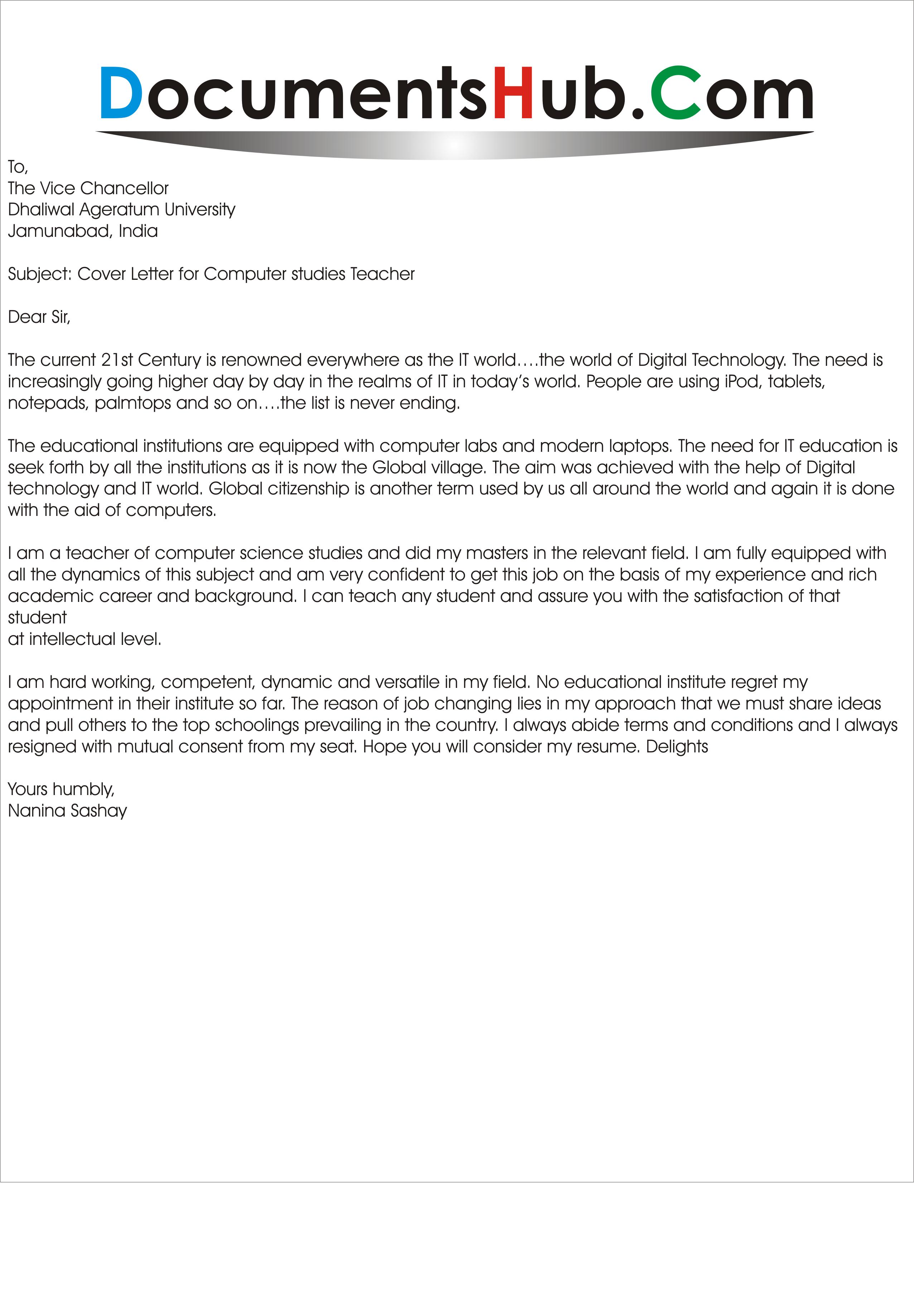 resume cover letter samples